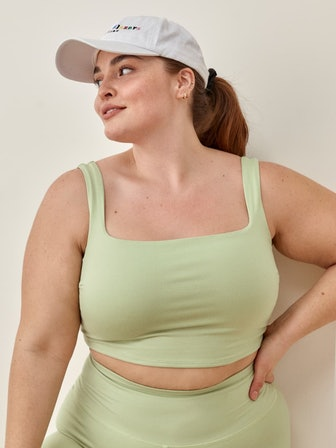 Ivy Ecostretch Cropped Tank Es in Limon
