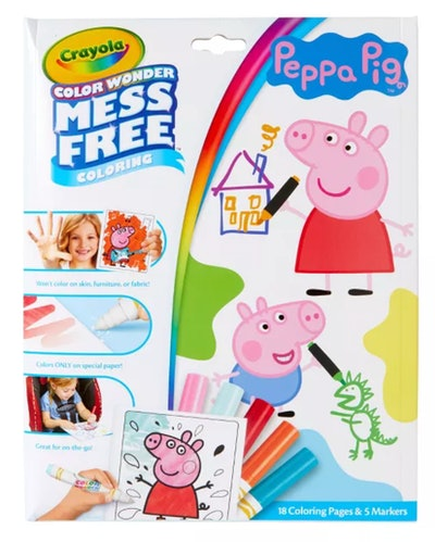 Crayola Color Wonder Peppa Pig Coloring Pages Set
