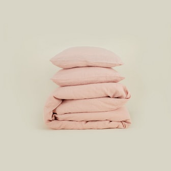 Simple Linen Bedding Blush