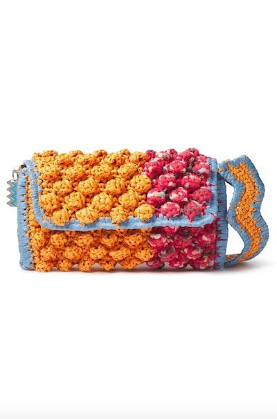 Pompom Crochet Bag