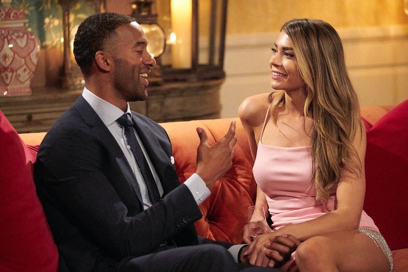Sarah Trott and Matt James chat on 'The Bachelor' via ABC Press Site
