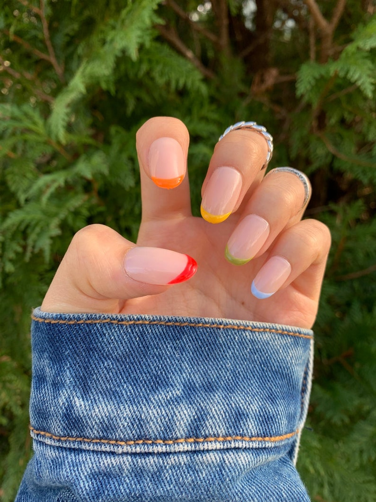 TipsyGel Rainbow Tips Press On Nails