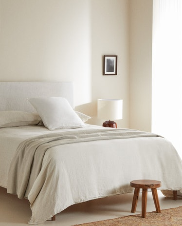 Washed Linen Fitted Sheet - Queen