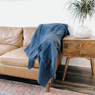 Stone Washed Linen Blanket