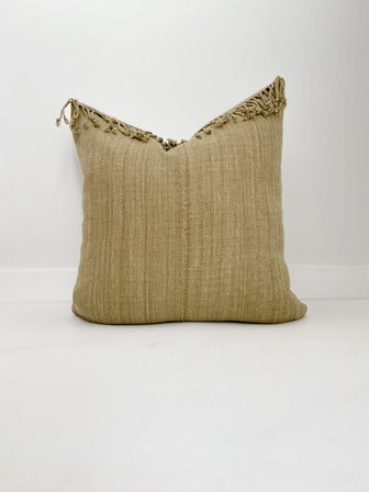 Hmong Olive Green Pillow Cover