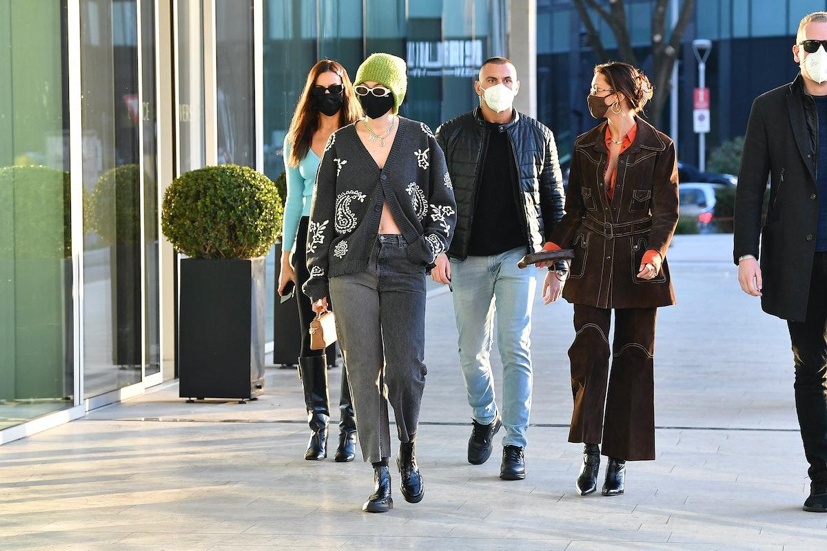 Irina Shayk, Gigi Hadid, and Bella Hadid