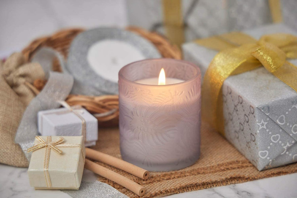 Lavender Vanilla Luxury Scented Soy Candle, 5.5 Oz.