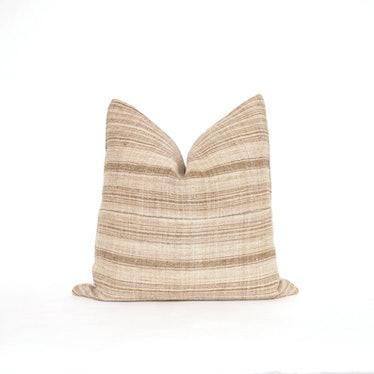 20x20 Brown Hmong Pillow Cover