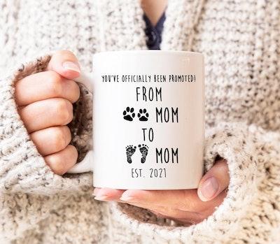 Dog Mom To Human Mom Mug