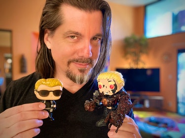 dc douglas with albert wesker action figures
