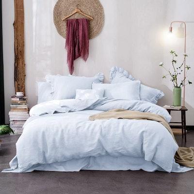 Merryfeel 100% Linen Duvet Cover Set