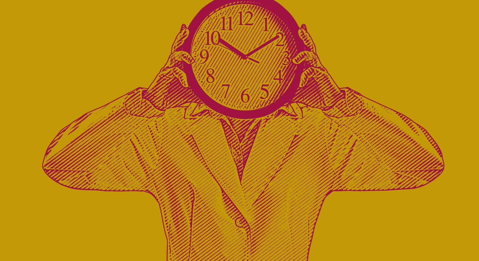 adhd clock time keeping at work