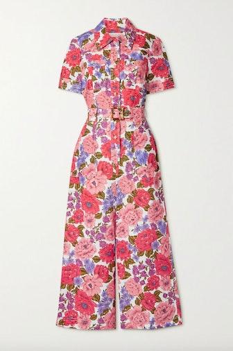 Poppy Belted Floral Print Jumpsuit