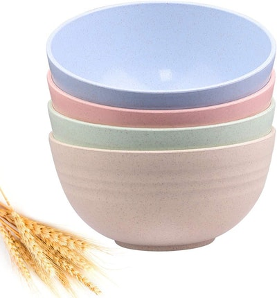 DUOLUV Unbreakable Cereal Bowls (Set of 4)