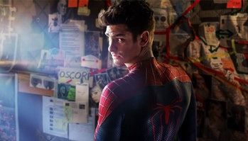 Andrew Garfield in The Amazing Spider-Man 2 poster