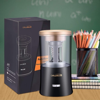 OfficeWorld Rechargeable Electric Pencil Sharpener
