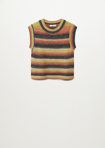 Multicoloured Knitted Vest