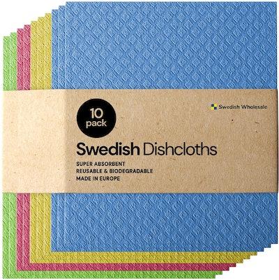 Swedish Dishcloth Cellulose Cloths (10-Pack)