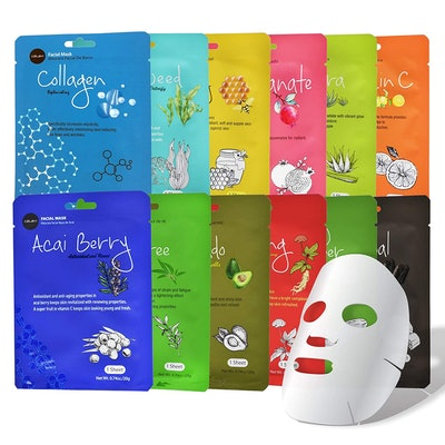 Celavi Collagen Sheet Masks (12-Pack)