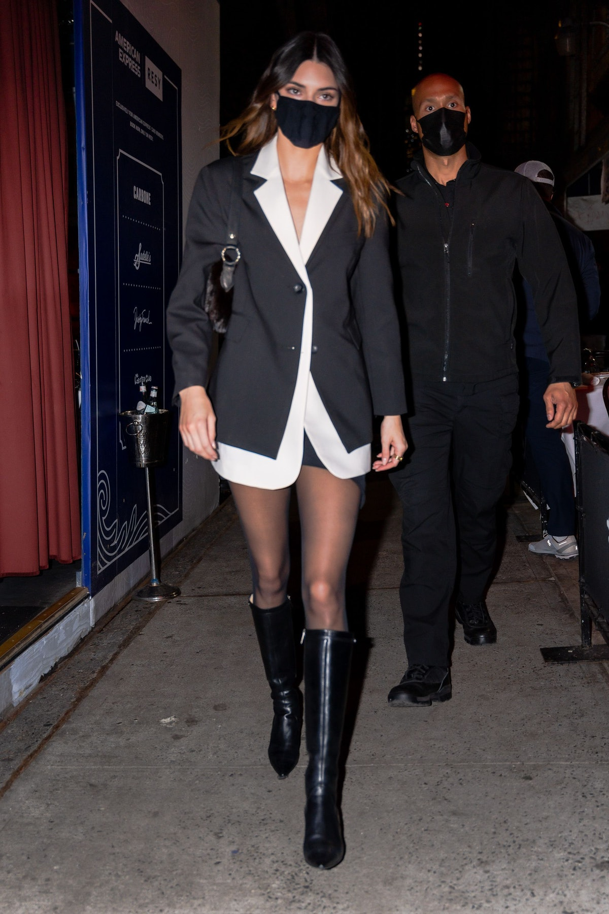 Kendall Jenner in no pants and a blazer.