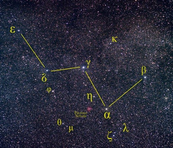 an image of constellation Cassiopeia