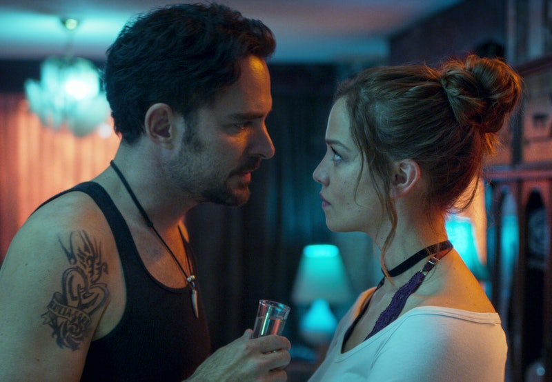 Manolo Cardona as Alex and Carolina Miranda as Elisa in episode 103 of Quien Mato a Sara? (aka Who Killed Sara?) via Netflix's press site