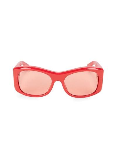 59MM Acetate Modified Square Sunglasses