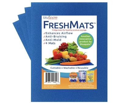 Bluapple FreshMats Fruit and Vegetable Life Extender Shelf Liner (4-Pack)