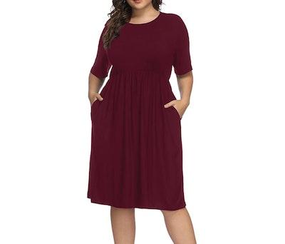 Allegrace Plus Size Midi Dress