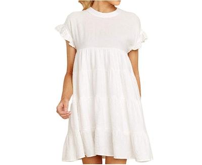 Joteisy Ruffle Short Sleeve Dress