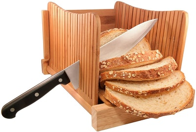 DBTech Foldable Bamboo Bread Slicer