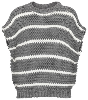Striped Cotton-Blend Sweater Vest