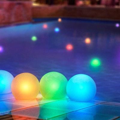 FlashingBlinkyLights Floating Lights For Pool (12-Pack)