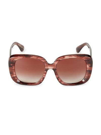 Nella 56MM Square Sunglasses