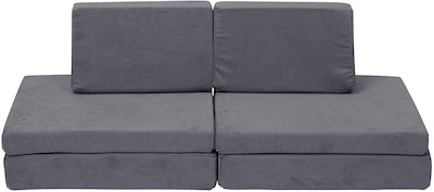 Children's Factory The Whatsit Kids Couch in Gray