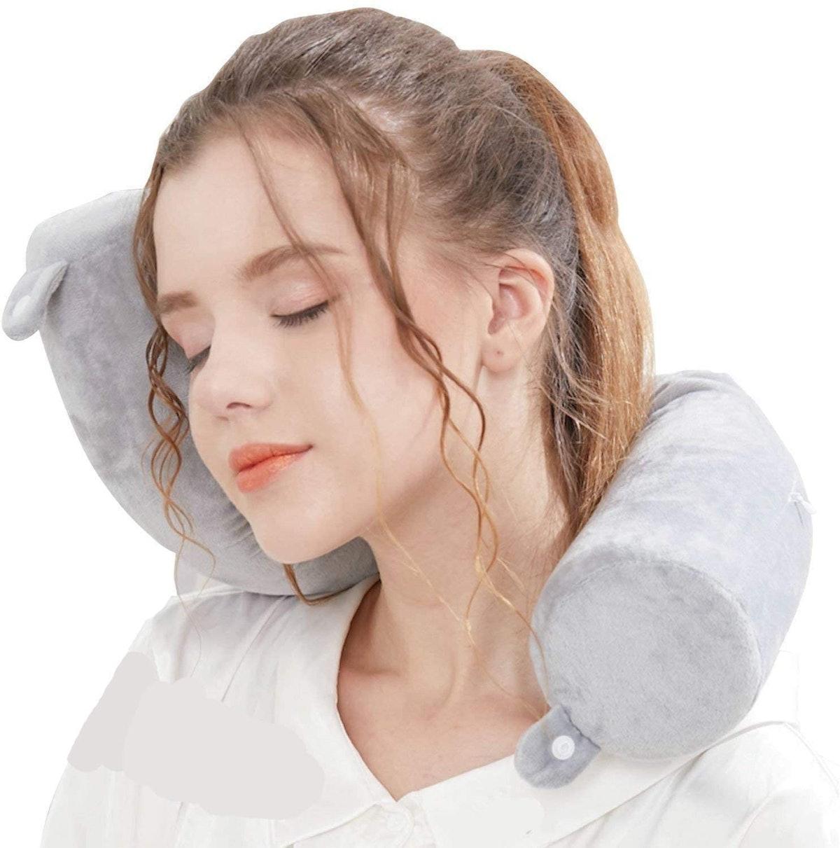 Lucear Twist Memory Foam Neck Pillow