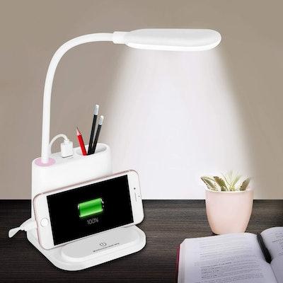 NovoLido LED Desk Lamp with Charging Port