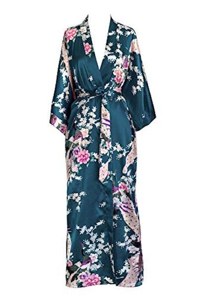 KIM+ONO Long Satin Kimono Robe