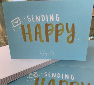 Happy Notes folded cards (10-pack)