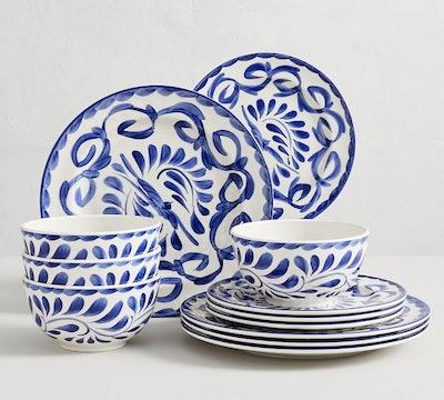 Puebla Melamine 12-Piece Dinnerware Set