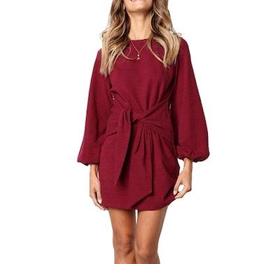 R.Vivimos Wrap Sweater Dress