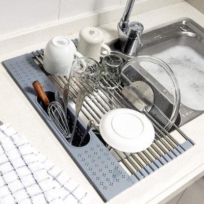 Koroda Over The Sink Roll Up Dish Drying Rack