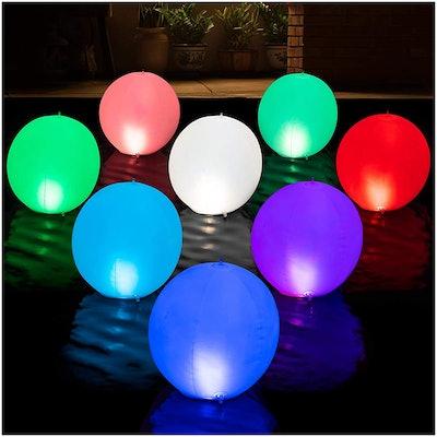 HAPIKAY Solar Floating Pool Lights (2-Pack)