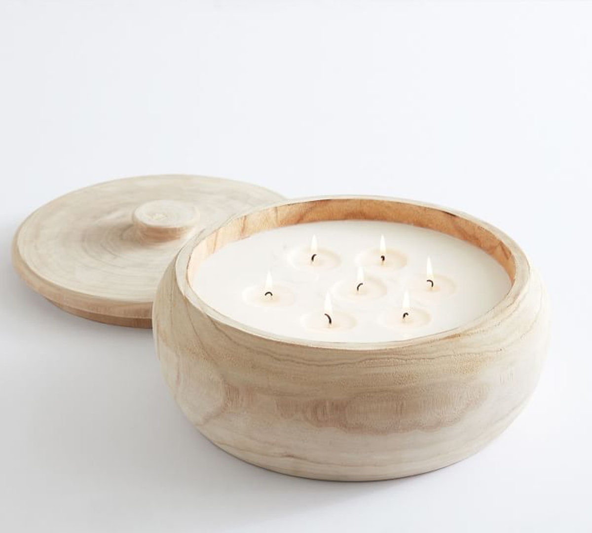 Wood Citronella Candle With Lid