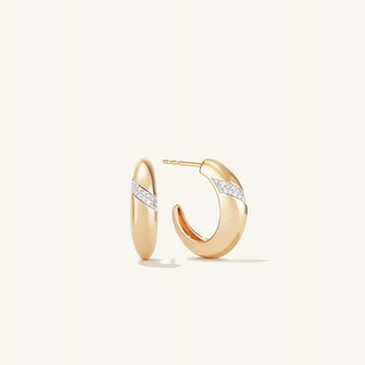 Pavé Diamond Dôme Hoops
