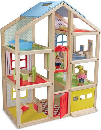 Melissa & Doug Hi-Rise Doll House and Furniture Set