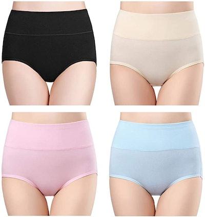 Wirarpa High-Waisted Cotton Underwear (4-Pack)