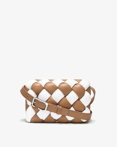 Maze Bag in White & Tan