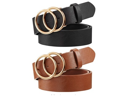 Syhood Faux Leather Belts (2-Pack)