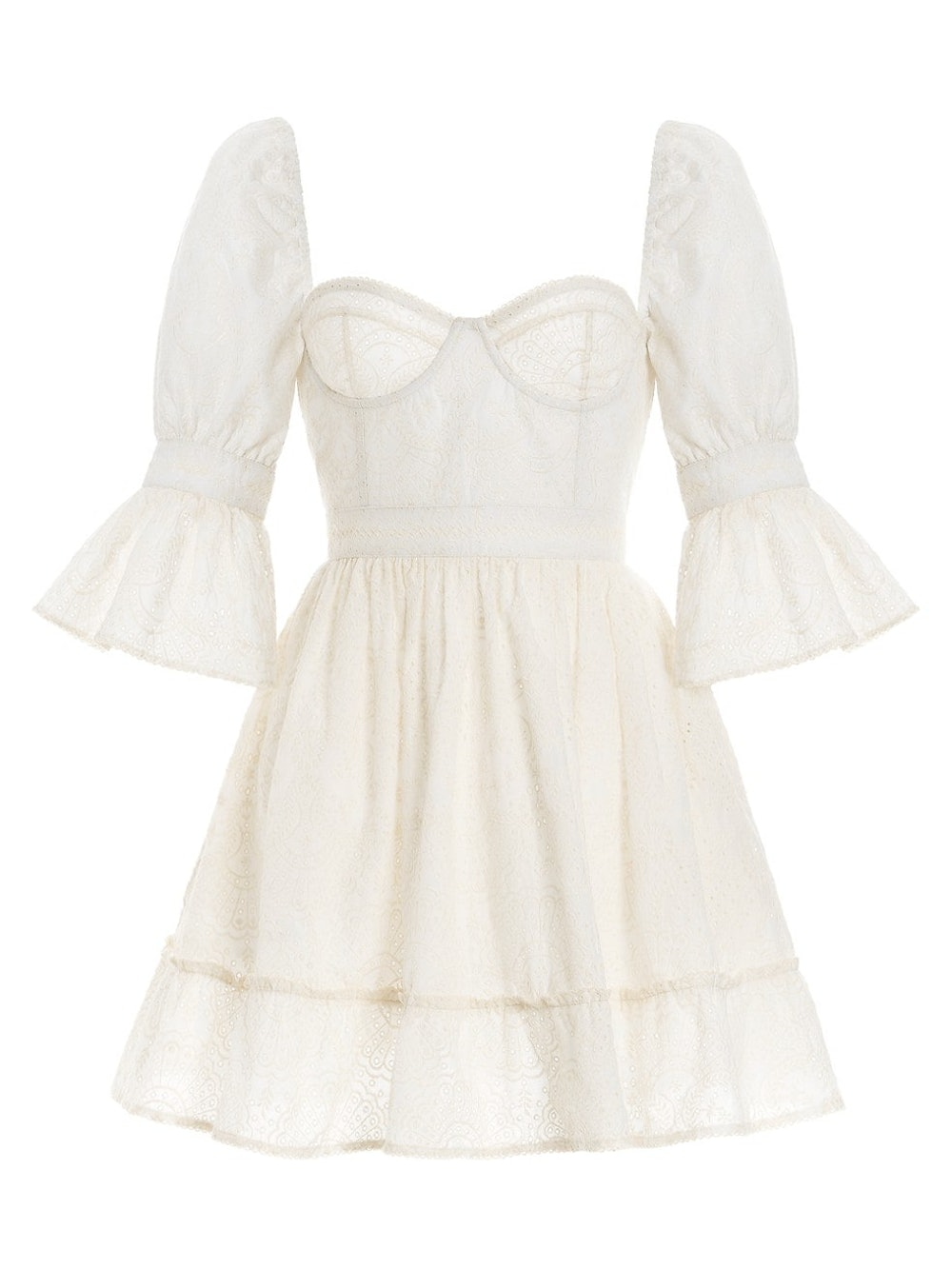 Cedro Lace Bustier Mini Dress